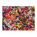 Farvestrålende perler 6 mm - 25 stk.