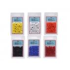 Shakespeare Rig Attractor Beads 8mm Yellow/gul - 50 stk.