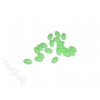 Lineaeffe selvlysende perler 6*10mm - 20 stk. Soft rubber beads